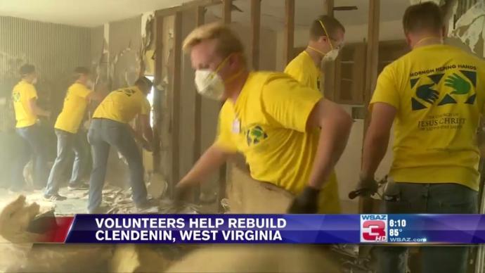 Volunteers Help Rebuild Clendenin, West Virginia