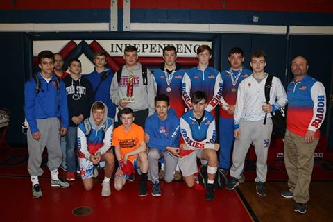 Herbert Hoover Huskies Wrestling Places 3rd in Regional Tournament