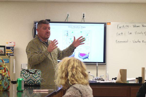 Herbert Hoover science teacher Richard Parsons teaching class