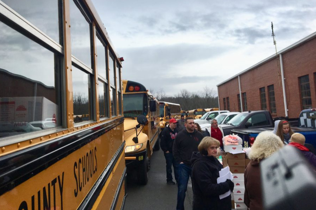 1,600 food boxes distributed to Fayette County students in