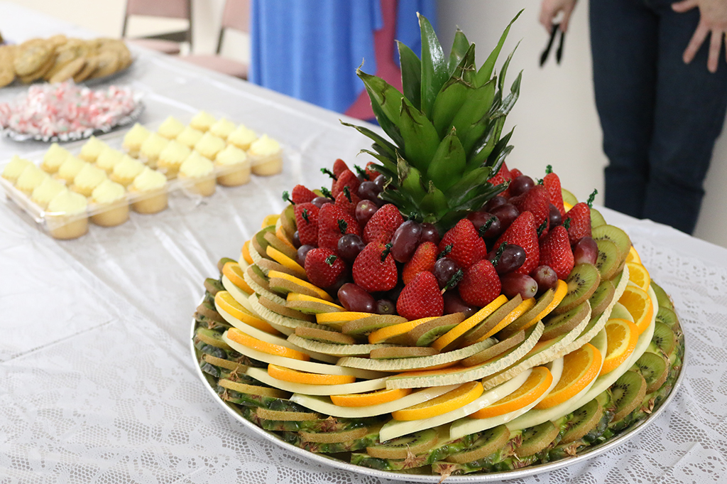 Beautiful Fruit Tray Provided by the Clendenin Women's Club for open house attendees. Photo Credit: Mark Burdette