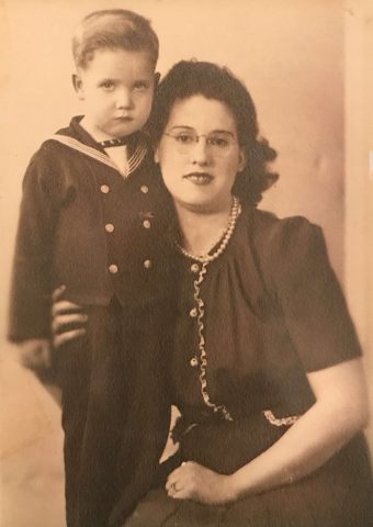 "Hoyt Newman 3 yrs old and his mother Geraldine ""Jerry"" Davis"