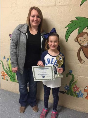 Mrs. Holcomb and Brooke Morton of Lizemore Elementary School.