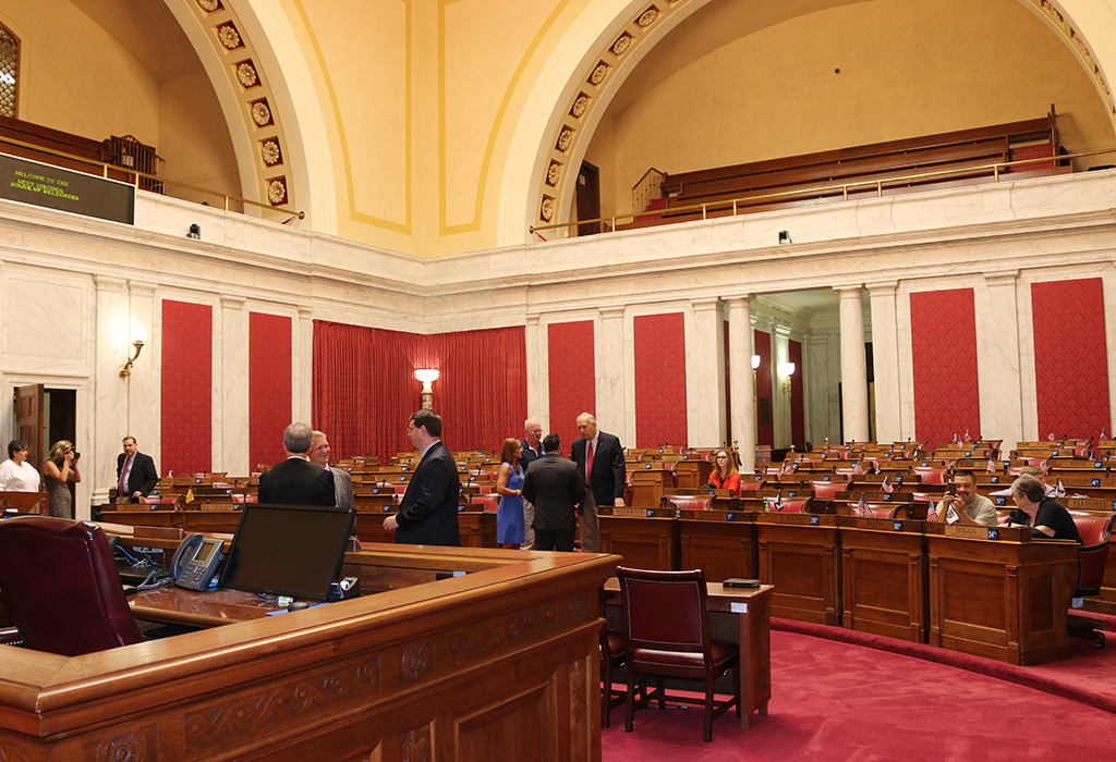 House Chamber prior to Dean Jeffries Swearing-in Ceremony. Photo Credit - Mark Burdette