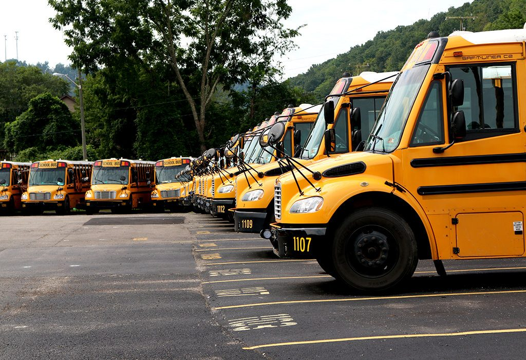 Kanawha County School Bus Terminal in Elkview, WV. Photo Credit: Mark Burdette