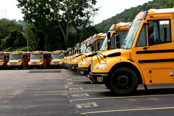 Kanawha County School Bus Terminal in Elkview, WV. Photo Credit: Mark Burdette