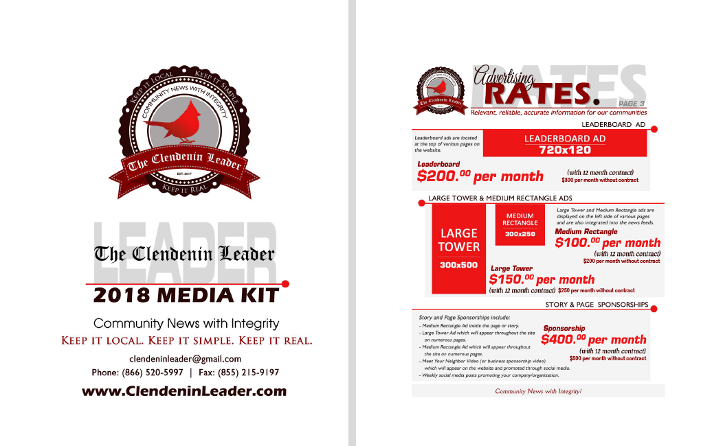 Advertise with The Clendenin Leader